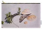 Sea Shells With Drift Wood And Small Plants Carry-all Pouch