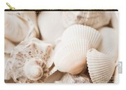 Sea Snails And Molluscs Empty Shells Sepia Toned  Carry-all Pouch