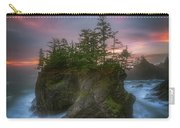 Sea Stack With Trees Of Oregon Coast Carry-all Pouch