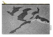 Sea Turtle Inlay In Grayscale Carry-all Pouch