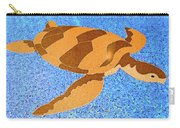 Sea Turtle Inlay In Vibrant Colors Carry-all Pouch