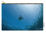 Sea Turtle Silhouette Carry-all Pouch