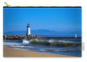 Seabright Beach Lighthouse With Surf Carry-all Pouch