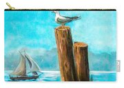 Seagull At Port Entrance Carry-all Pouch