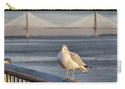 Seagull At Ravenel Bridge Carry-all Pouch