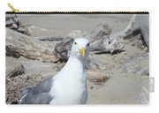 Seagull Bird Art Prints Coastal Beach Driftwood Carry-all Pouch