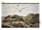 Seagull Flying Into Ocean Jetty Carry-all Pouch