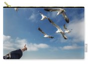 Seagull Flying Carry-all Pouch by Pradeep Raja PRINTS