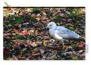 Seagull In The Fallen Leaves Carry-all Pouch