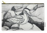 Seagull On Rocks Carry-all Pouch