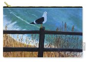 Seagull On The Fence Carry-all Pouch