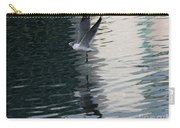 Seagull Reflection Over Blue Bay Carry-all Pouch