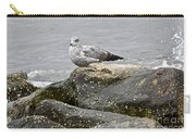 Seagull Sitting On Jetty Carry-all Pouch