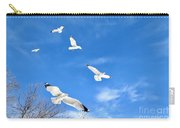 Seagulls In Winter Flight Carry-all Pouch
