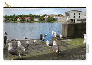 seagulls near a pond in the center of Reykjavik Carry-all Pouch
