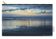 Seagulls On Beach At Sunset Carry-all Pouch