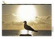 Seagull's Sunrise Silhouette Carry-all Pouch