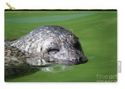 Seal Swimming Portrait Wildlife Scene Carry-all Pouch