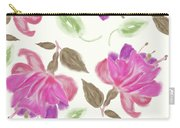 seamless   pattern of watercolor Fuchsia Flowers Carry-all Pouch