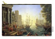Seaport With The Embarkation Of Saint Ursula  Carry-all Pouch