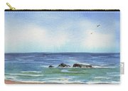 Seascape With Three Rocks Carry-all Pouch