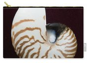 Seashell On Black Background Carry-all Pouch