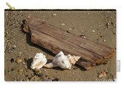 Seashells And Sea Wood  On The Beach Carry-all Pouch