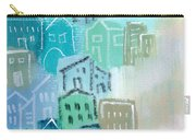 Seaside City- Art By Linda Woods Carry-all Pouch