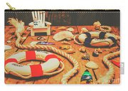 Seaside Ropes And Nautical Decks Carry-all Pouch