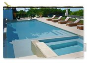 Seaside Swimming Pool As A Silk Screen Image Carry-all Pouch