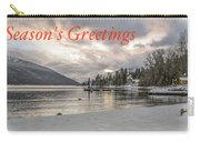 Season's Greetings- Cabin On The Lake Carry-all Pouch