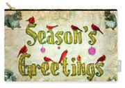 Season's Greetings Card Carry-all Pouch