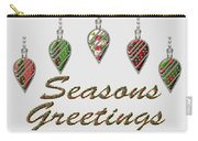 Seasons Greetings Merry Christmas Carry-all Pouch