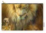 Seasons Of The Lion Carry-all Pouch by Carol Cavalaris