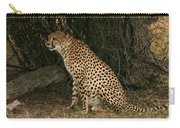Seated Cheetah Carry-all Pouch