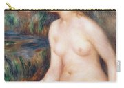 Seated Female Nude Carry-all Pouch