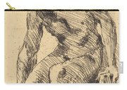 Seated Male Nude (sitzender M?nnlicher Akt) Carry-all Pouch