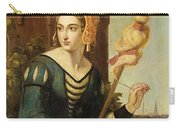 Seated Noble Lady With Distaff Carry-all Pouch
