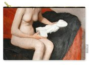 Seated Nude With Sculpture Carry-all Pouch
