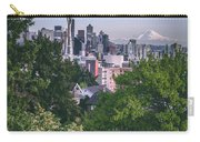 Seattle And Mt. Rainier Vertical Carry-all Pouch