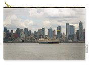 Seattle City Skyline Along Elliott Bay Carry-all Pouch