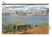Seattle City Skyline View From Alki Beach Carry-all Pouch