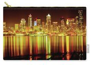 Seattle Panorama Reflection In Elliot Bay Carry-all Pouch by Tim Rayburn