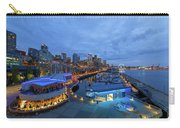 Seattle Skyline From The Waterfront At Blue Hour Carry-all Pouch