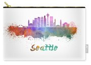 Seattle V2 Skyline In Watercolor Carry-all Pouch