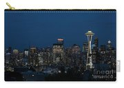 Seattle Washington Space Needle And City Skyline At Night Carry-all Pouch