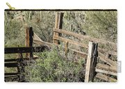 Secluded Historic Corral In Sonoran Desert Carry-all Pouch