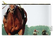 Secretariat Winning The Belmont Stakes, Jockey Ron Turcotte Looking Back, 1973 Carry-all Pouch