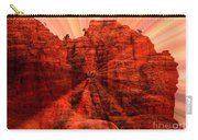 Sedona Sunset Energy - Abstract Art Carry-all Pouch by Carol Groenen