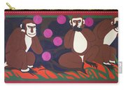 See No Evil, Speak No Evil, Hear No Evil Carry-all Pouch